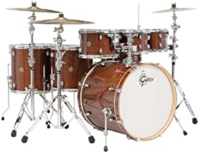 Gretsch (CM1E826PWG) 2014 Catalina Maple 7-Piece Rock Shell Pack and 22 Inch Kick with Free Additional 8 Inch Tom - Walnut Claze