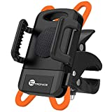 TaoTronics Bike Phone Mount Bicycle Holder, Universal Cradle Clamp for iOS Android Smartphone, Boating GPS, Other Devices, with One-button Released, 360 Degrees Rotatable