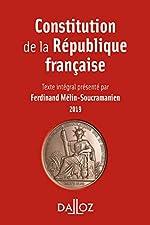 Constitution de la République française. 2019 de Ferdinand Mélin-Soucramanien