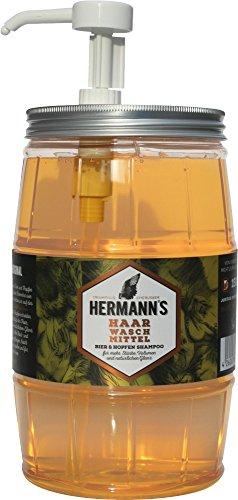 JUSTUS Sistema pelo cosmético Hermanns cerveza y lúpulo Champú, 1er Pack 1,5L