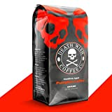 DEATH WISH COFFEE Organic Pumpkin Spice Dark Roast Coffee Grounds [12 oz.] The World's Strongest, Fair Trade, Arabica, Robusta, Chai, Cardamom, Cinnamon, and Ginger Infused Spices