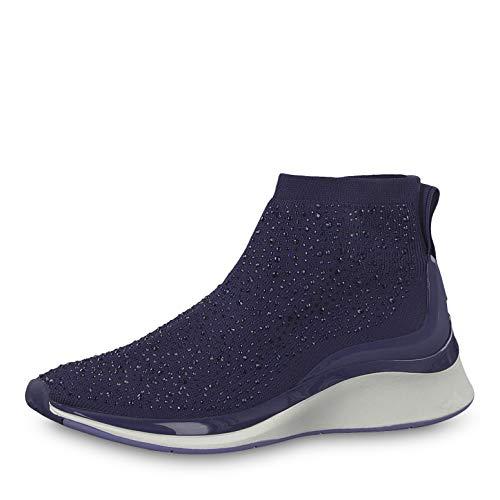 Tamaris Damen Sneaker 25403-23, Frauen Slip-On Sneaker, elegant Women's Women Woman Freizeit leger Halbschuh sportschuh Slipper,Navy,42 EU / 8 UK