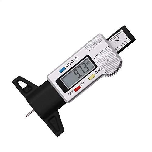 FYYONG La medición de la banda de rodamiento de precisión digital medidor de profundidad 0 a 25,4/0,01 Pantalla LCD pisada del neumático de pastillas de freno desgaste de las zapatas 0-1' Calibre De