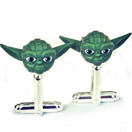 LEGO® Yoda Star Wars Manschettenknöpfe, Hochzeit, Bräutigam, Herren-Geschenk