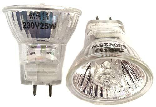 1 Paar Glühlampen für Lava MR11 230 Volt 25 Watt