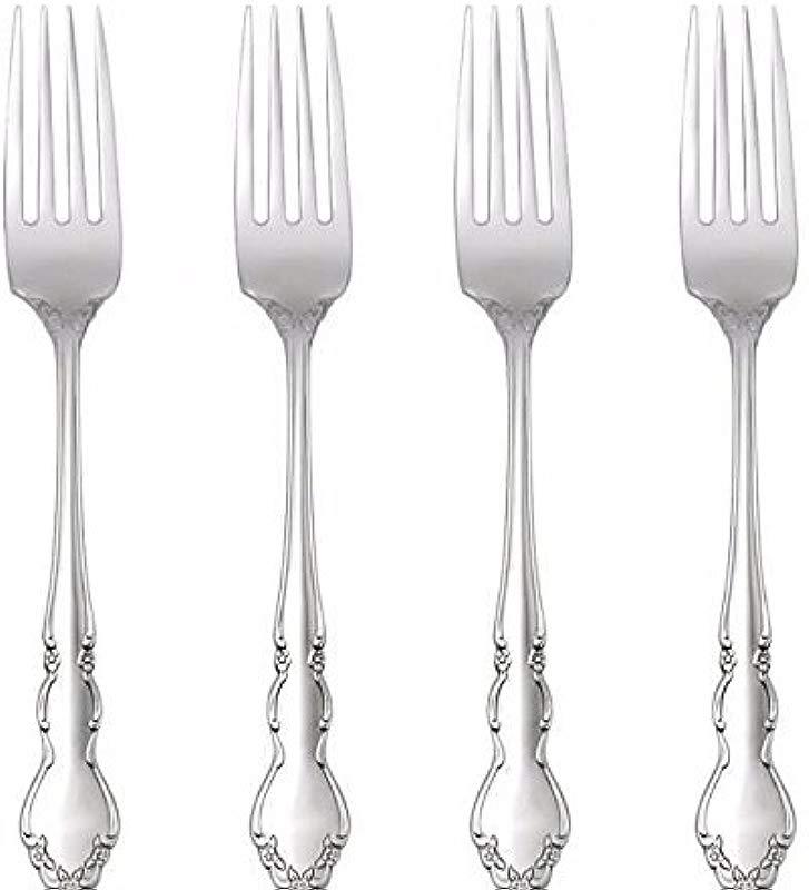 Oneida Dover Fine Flatware Set 18 10 Stainless Set Of 4 Dinner Forks