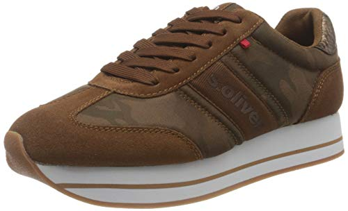 s.Oliver Damen Da-Schnürer Sneaker, Braun, 38 EU