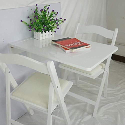 LYHY Nest of Tables Mesa de Centro Blanca Mesas auxiliares Mesa para portátil Dropleaf de Pared, Escritorio Plegable de Cocina y Comedor, Madera Maciza para niños, 2 Colores, Blanco