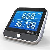 C-Logic Medidor CO2 - Monitor de Calidad del Aire Detector dióxido de Carbono , Temperatura y Humedad, portátil autonomía batería hasta 24 Horas