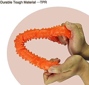 CMKJ Jouet pour chien à mâcher agressif, jouet durable pour changer de dents pour chiens énergétiques de taille moyenne et grande (orange)