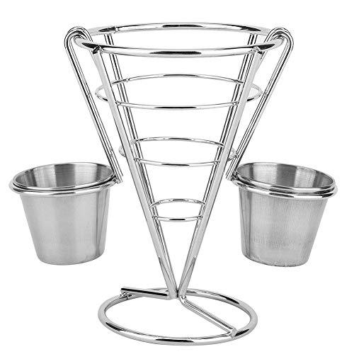 Portapane a cono con supporto per patatine fritte e tazza per salsa(double cup)