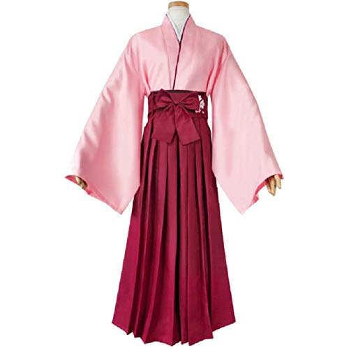 YKJ Disfraz de Cosplay de Anime Traje de Kendo Rosa Conjunto Completo de Fiesta de Carnaval de Kimono,Full Set-XL
