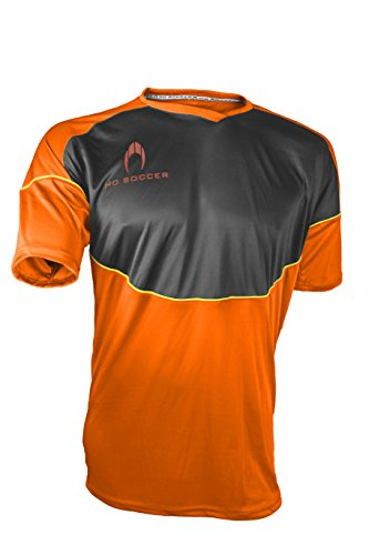 HO Soccer Legacy Camiseta de Portero Manga Corta, Hombre, Naranja/Negro/Lima, S