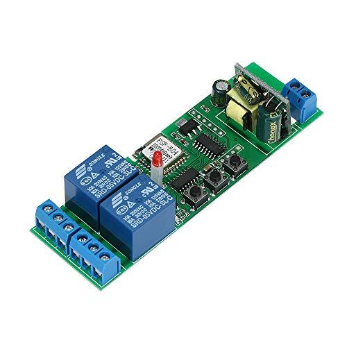 """SONOFF Intelligente Interruttore WiFI, 2CH AC85-250V Wireless Universale Modulo Interruttore Timer Compatibile con\""""Amazon\"""" Alexa Google Home per Casa Intelligente"""