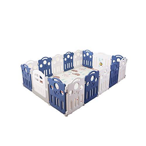 LIUFS-Clôture Jeu pour enfants Centre de formation Clôture Sécurité intérieure pour la maison Tapis antidérapant pour aire de jeux Cadeau de jeu (Couleur : 14+2 Fence)