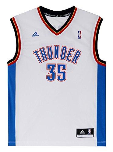 adidas INT Replica JRSY Camiseta de Baloncesto NBA Oklahoma City Thunder, Hombre, Blanco, XS