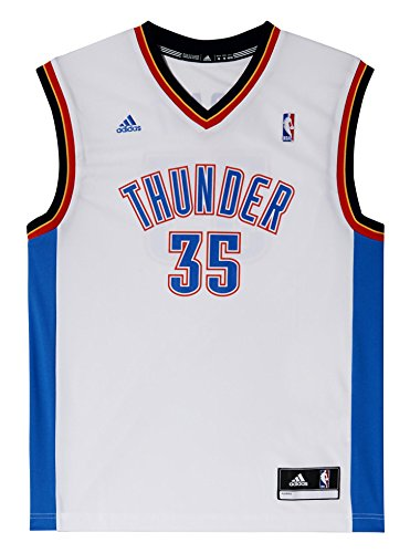 Adidas Canotta NBA Thunder Nr. 35 Durant, Bianca, Taglia XS