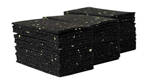 Lot de 48 dalles de terrasse, 3 mm, plaques de terrasse, granulés de caoutchouc, construction de terrasse