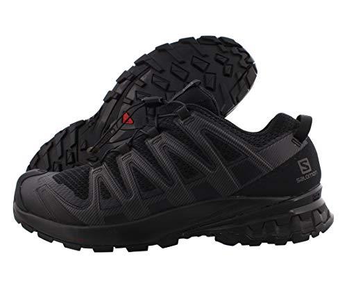 Salomon XA Pro 3D V8, Zapatillas De Trail Running Y Sanderismo Versión Màs Ligera Hombre, Color: Negro (Black/Black/Black), 45 1/3 EU
