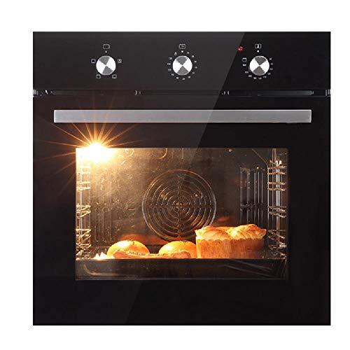 Vapor de convección horno empotrado en utensilios de cocina hogar horno eléctrico 56L de gran capacidad 2270W, la perilla de control 3 de bicarbonato de modos/temporización libre de 10-120 minutos