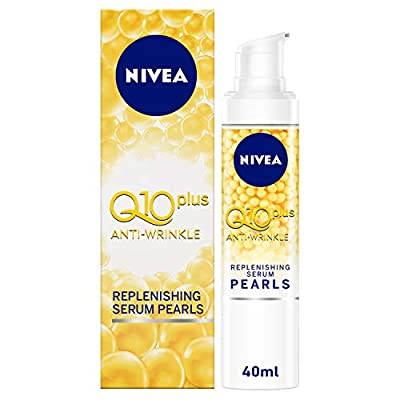 NIVEA Q10plus Anti-Wrinkle Replenishing Serum Pearls (40ml), Anti Ageing Face Cream, Q10 & Hyaluronic Acid, Pure Anti-Wrinkle Cream, Smooth Face Cream for Women