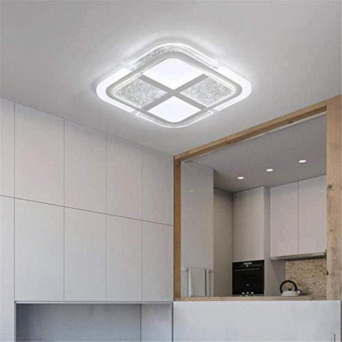 Lámpara de techo, luz de estrella, plafón LED, pasillo, dormitorio, comedor, creativa, luz de pasillo, moderna, sencilla, 50 x 50 x 5 cm/60 W