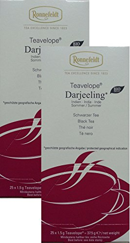 Ronnefeldt-Teavelope -2er Pack- Darjeeling - Schwarzer Tee - 2x25x1,5g Teebtl