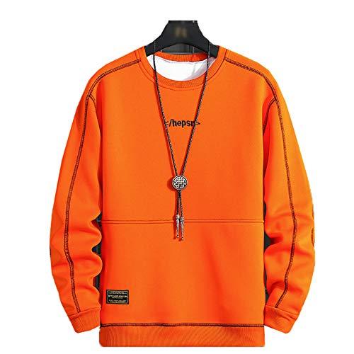 Primavera y otoño Falso suéter de Dos Piezas Camiseta de Manga Larga de Moda Casual Suelta de Moda