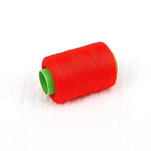 Mingi 1pc Tenacity Cotton Machine Hilos de Coser Bordados Hilo de Coser a Mano Craft Patch Inicio Suministros de Costura del Volante, Rojo