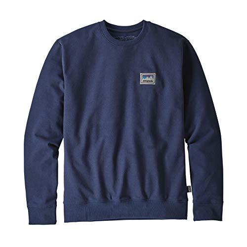 Patagonia M's Shop Sticker Patch Uprisal Crew Sweatshirt für Herren XXL Klassisch Marineblau