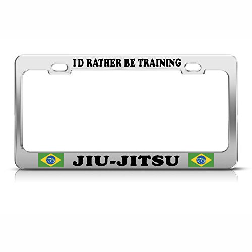 Brazilië JIU-Jitsu Training Heavy Duty Metaal Staal License Plaat Frame Tag Border Perfect voor Mannen Vrouwen Auto garadge Decor