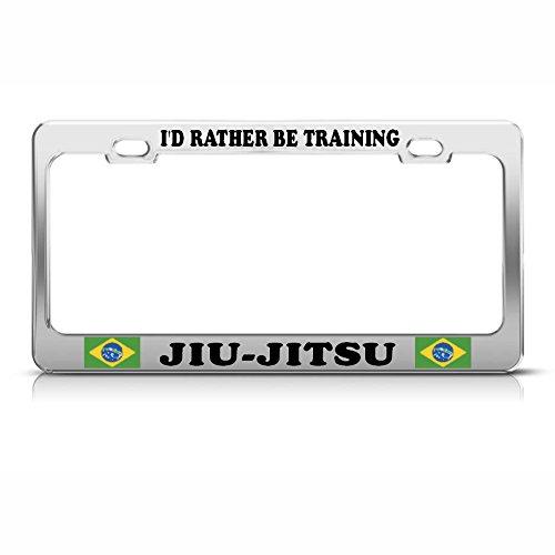 Brasilien JIU-Jitsu Training Heavy Duty Metall Stahl Kennzeichenrahmen Tag Bordüre Perfekt für Männer Frauen Auto Garadge Dekor