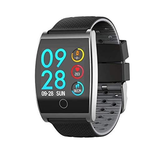Lg-jz Smart Watch Smart Bracelet 1.3 Pollici Grande Schermo a Colori Blood Pressure Blood Oxygen Heart Rate Sport Bracciale Impermeabile (Colore : Black Gray)