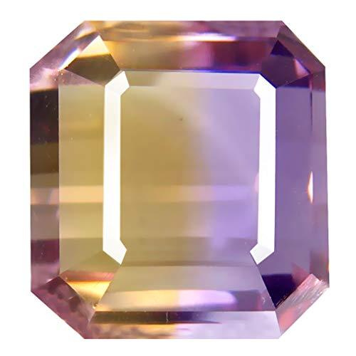 アメトリン ルースストーン 11.47 ct Octagon Cut (12 x 12 mm) Unheated/Untreated Purple and Yellow Ametrine Natural Loose Gemstone