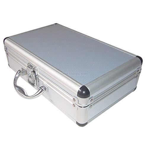 LSXUE Kit Vehículo Caja de Herramienta de aleación de Aluminio al Aire Libre Caja portátil Instrumento de Seguridad del Equipo Case Maleta Equipo de Seguridad al Aire Libre (Color : 02 Silver)