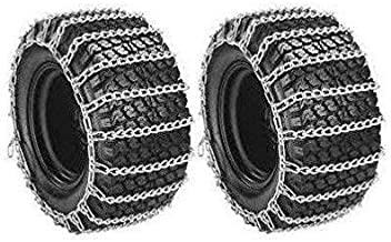 The ROP Shop | 2 Link TIRE Chains 20x8.00-10 20x8.00-8 20x8x10 20x8x8 Tractor Rider Snowblower