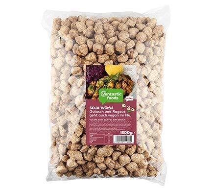 Vantastic foods SOJA WÜRFEL Familienpackung, 1,5kg | Fleischersatz VEGAN | Vegane Fleischalternative | Großpackung | 100 % PFLANZLICH