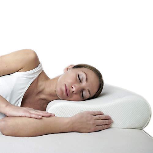 Almohada cervical ortopédica de espuma viscoelástica ergonómica para dolores de cuello, funda suave extraíble y lavable para tomar la postura correcta durante la noche y el descanso