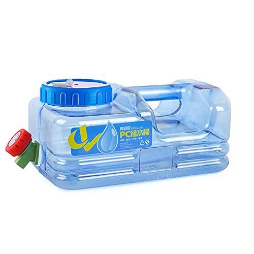 Yusheng Bidón de agua con depósito de agua de 5,5 l con grifo, portátil, reutilizable, antisalpicaduras, para oficina, camping, excursiones al aire libre