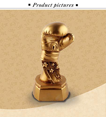 ZHANGYUGE Skulpturen,Kreative Europa Golden Boxing Handschuhe Modell Sport Trophäe Harz Ornamente Desktop Handwerk Boxhandschuhe Statue Home Decor Geschenke