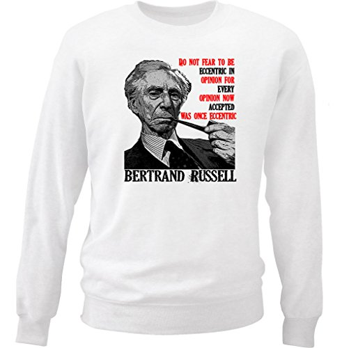 teesquare1st Men's Russell Bertrand 1 White Sweatshirt Size Large
