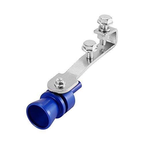HITECHLIFE Silenciador de Silenciador de Escape Silenciador de Escape Tubo de Escape Turbo Silbato Tornillos de Aluminio y Hierro