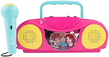 Sakar Barbie Kids Karaoke Machine with Radio