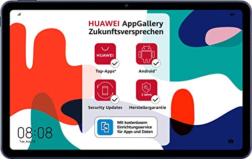 HUAWEI MatePad 10,4 Zoll, 2K FullView Display, Wifi Tablet-PC, HUAWEI Share, eBook Modus, 4 Speaker, 3 GB RAM, 32 GB ROM, Betriebssystem EMUI 10 mit Huawei Mobile Services (HMS), Midnight Gray