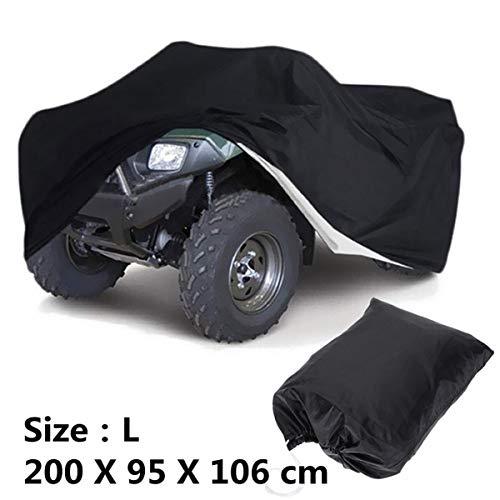 NA Telo Copriauto, Nero della Copertura Impermeabile Universale Storage Bag Dimensioni L XXL XXXL for Il Motociclo Quad ATV (Size : XXXL)