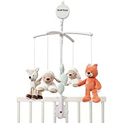A beautiful, bright mobile to entertain your little one Features cuddly design characters found in Nattou's collections A variety of hanging items with a pull cord operated soothing musical tune Ideally suited to all neutral nursery scenes Features a...