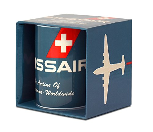 Logoshirt Airlines - Swissair - The Airline of Switzerland Porzellan Tasse - Kaffeebecher - blau - Lizenziertes Originaldesign
