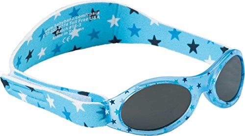 Dooky BabyBanz Blue Star Baby Sonnenbrille für Mädchen und Jungen (Babysonnenbrille 0 - 2 Jahre, klinisch getesteter 100% UV-A & UV-B Schutz, bruchsicheres Glas, verstellbares Neoprenband), blau
