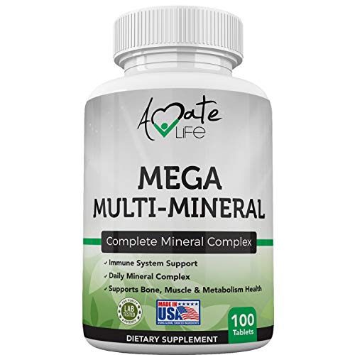 Multi Minerals Supplement Complete Mineral Complex with Vitamin D3,...