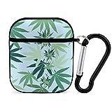 Funda para Airpods de Hoja de Marihuana, Accesorios duraderos para Airpods para Apple Airpods, Funda de Carga 2 y 1, Funda Protectora a Prueba de Golpes